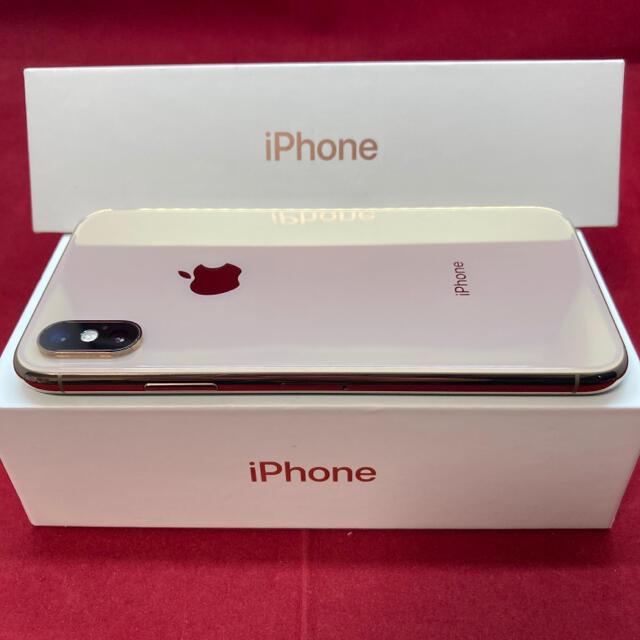 Apple(アップル)のSIMフリー iPhoneXS 64GB ゴールド 上美品 スマホ/家電/カメラのスマートフォン/携帯電話(スマートフォン本体)の商品写真