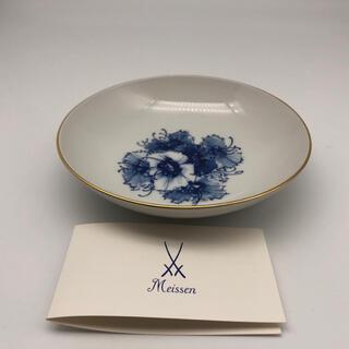マイセン(MEISSEN)のMeissen 金縁丸皿15cmブルーフラワー プレート(食器)