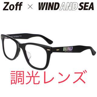 シー(SEA)のウエリントン型 調光 レンズ(グレー/クリア)Zoff×WIND AND SEA(サングラス/メガネ)