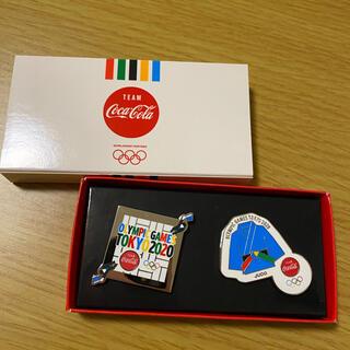 コカコーラ(コカ・コーラ)のコカコーラ オリンピック ピンバッジ 柔道 非売品(バッジ/ピンバッジ)