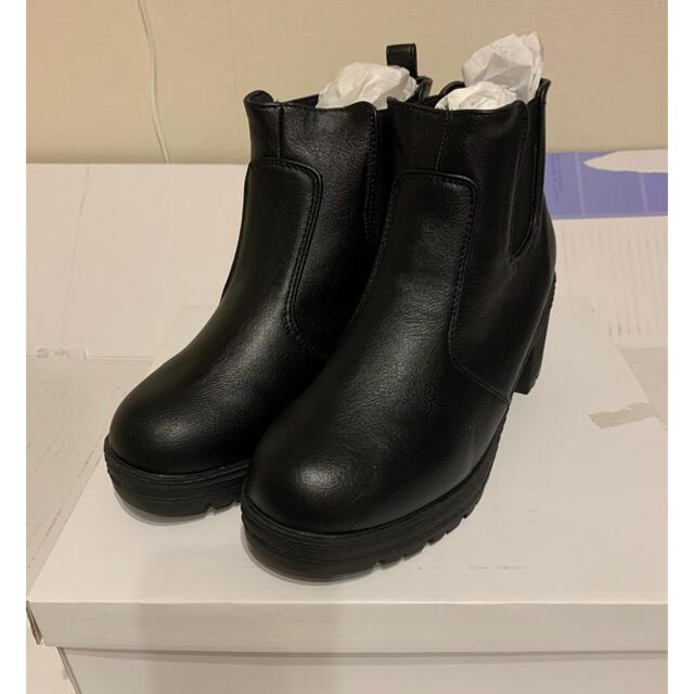 GRL(グレイル)のGRL サイドゴアショートブーツ 24.5cm レディースの靴/シューズ(ブーツ)の商品写真