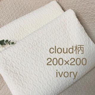 韓国イブル✨クラウド柄アイボリー ベビー ソファーカバー200×200(±5)