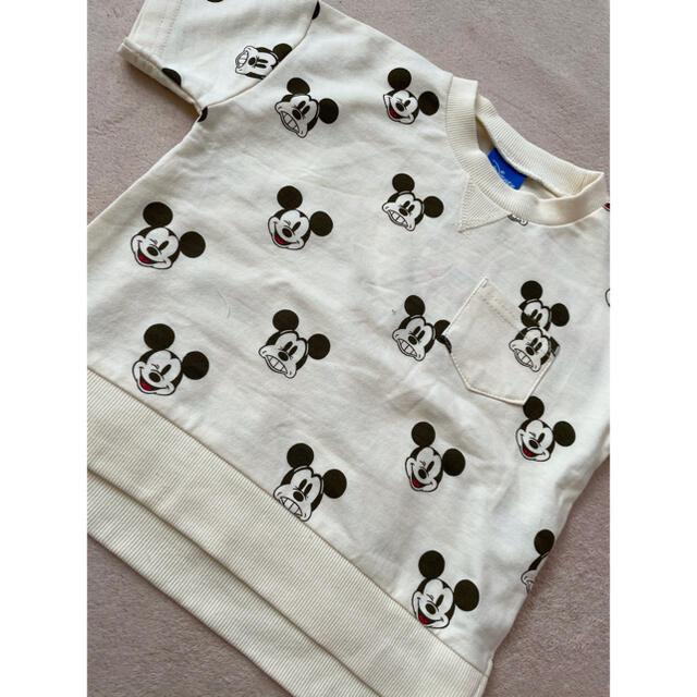 しまむら(シマムラ)のミッキー Tシャツ しまむら キッズ/ベビー/マタニティのキッズ服男の子用(90cm~)(Tシャツ/カットソー)の商品写真