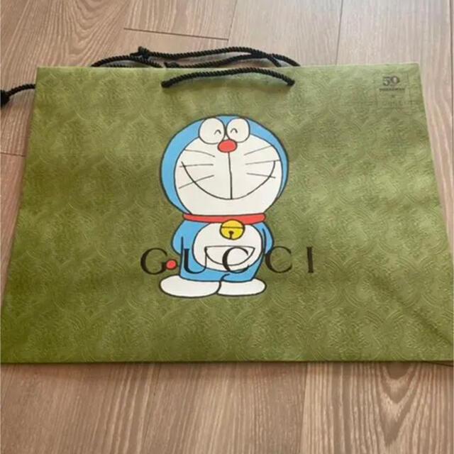 Gucci(グッチ)のドラえもん グッチ コラボ ショッパー ショップ袋 レディースのバッグ(ショップ袋)の商品写真