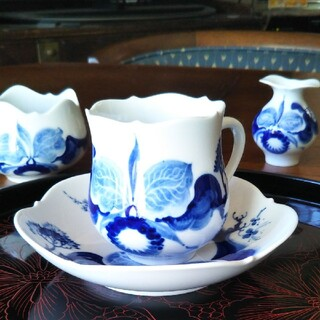マイセン(MEISSEN)のブルーオーキッドカップ&ソぬーサー(食器)