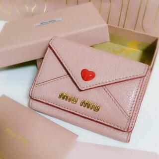 miumiu - 【極美品】miumiu♡ラブレター ミニ財布