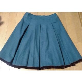 エムズグレイシー(M'S GRACY)のエムズグレィシー  グリーン フレアスカート(ひざ丈スカート)