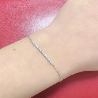 ☆ ダイヤモンドブレスレット ☆ k18wg ホワイトゴールド ダイヤブレス