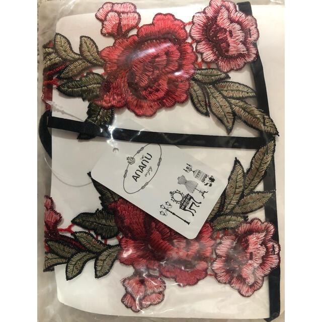 薔薇の刺繍 セクシーランジェリー コスプレ レディースの下着/アンダーウェア(ブラ&ショーツセット)の商品写真