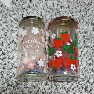KALDI - カルディ さくらキャンディジャー イチゴキャンディジャー 桜 苺 いちご 飴