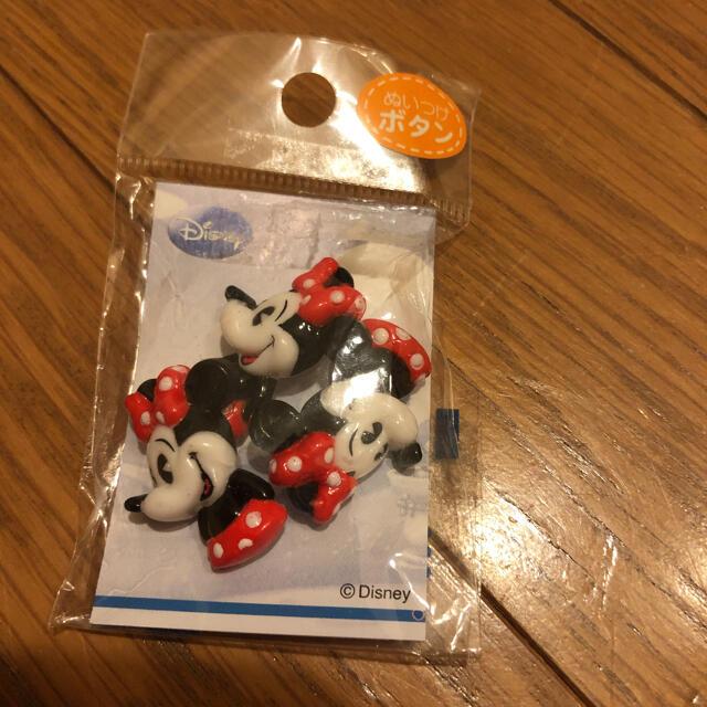 Disney(ディズニー)のディズニー ミニーちゃん ボタン エンタメ/ホビーのおもちゃ/ぬいぐるみ(キャラクターグッズ)の商品写真