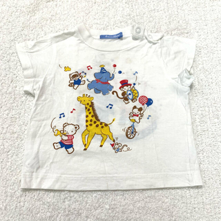 ファミリア(familiar)のfamiliar Tシャツ 半袖 80 動物 サーカス レトロ(Tシャツ)
