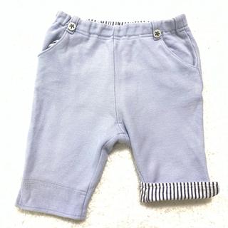 ファミリア(familiar)のパンツ ハーフパンツ 半ズボン ブルー 水色 ファミリア 70 80 星 ボタン(パンツ)