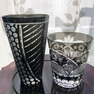 黒ビアタンブラー&黒ロックグラス