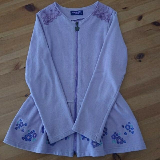 ANNA SUI mini(アナスイミニ)の【専用です】アナスイミニ ジップカーディガン 140 キッズ/ベビー/マタニティのキッズ服女の子用(90cm~)(Tシャツ/カットソー)の商品写真