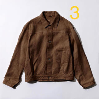 COMOLI - comoli コモリ biotop 別注 ヘンプ ジャケット 3 ビオトープ