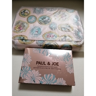 PAUL & JOE - PAUL & JOE  限定品 猫 ファンデーションケースとノベルティポーチ