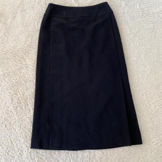 クリスチャンオジャール(CHRISTIAN AUJARD)の高級!CHRISTIAN AUJARD タイトルロング スカート 38美品(ひざ丈スカート)