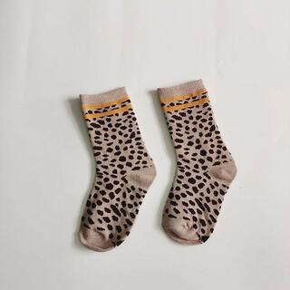 【人気!在庫限り!早い者勝ち】新品 韓国子供服 レオパード柄ソックス 靴下 子供