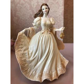 ロイヤルウースター(Royal Worcester)のRoyal Worcester レディ フィギュリン 陶器人形 ポーセリンドール(置物)