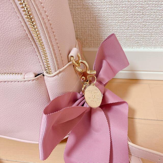 Maison de FLEUR(メゾンドフルール)のMaison de FLEUR リボンSリュック レディースのバッグ(リュック/バックパック)の商品写真