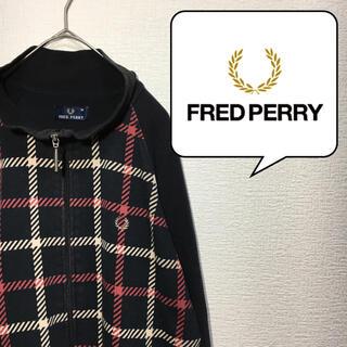 フレッドペリー(FRED PERRY)のフレッドペリー Fredperry スウェット トレーナー M ジップアップ(スウェット)