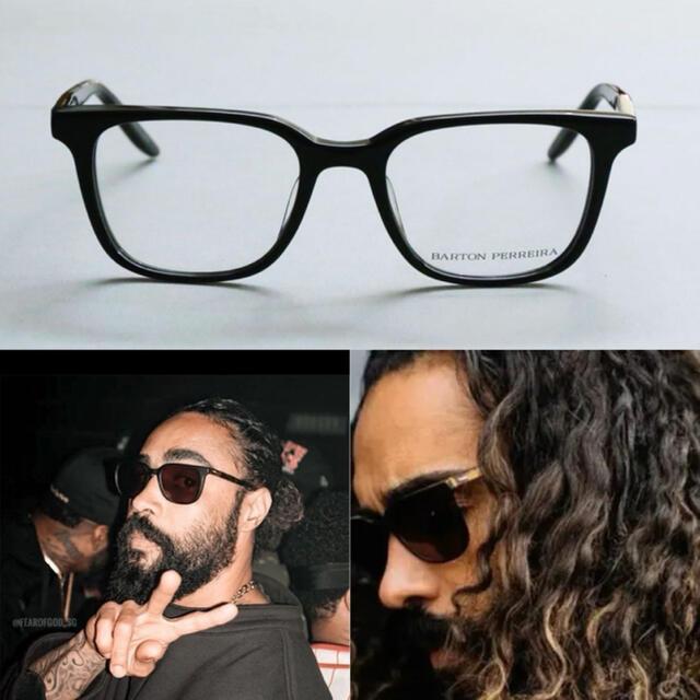 FEAR OF GOD(フィアオブゴッド)のBarton Perreira ブラック joe メガネ メンズのファッション小物(サングラス/メガネ)の商品写真