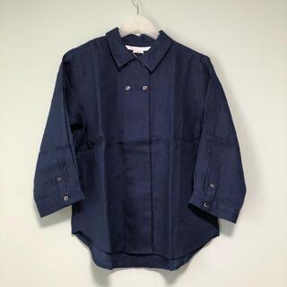 LILASICリラシク リネンシャツ ダブルボタン(シャツ/ブラウス(長袖/七分))