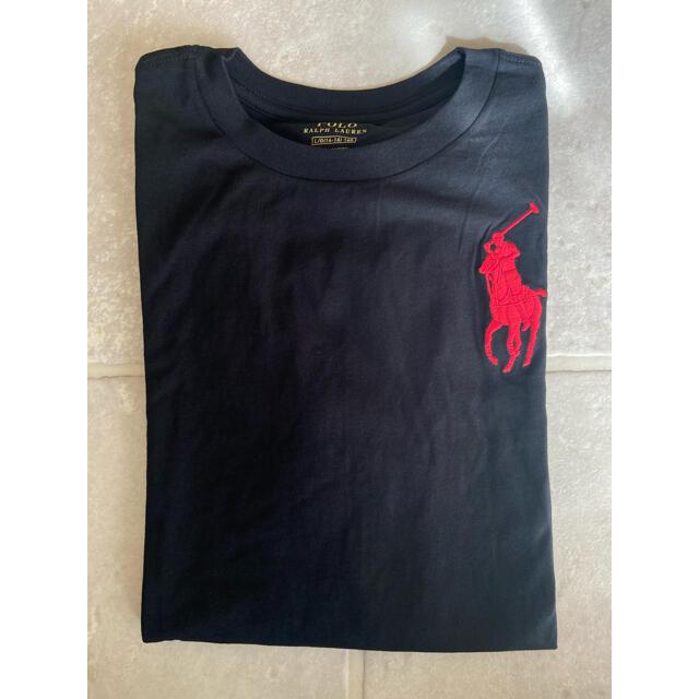POLO RALPH LAUREN(ポロラルフローレン)の150 ポロ ラルフローレン  ビッグポニー 長袖 Tシャツ ブラック ロンT  キッズ/ベビー/マタニティのキッズ服男の子用(90cm~)(Tシャツ/カットソー)の商品写真