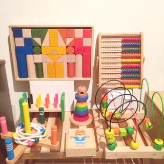 BorneLund - ボーネルンド  カラー積み木 等  7点  木のおもちゃ