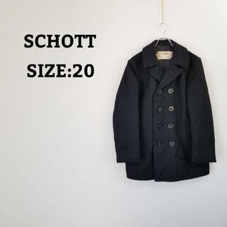 ショット(schott)のショット SCHOTT 740 メンズ ダブル Pコート USA製 ブラック(ピーコート)
