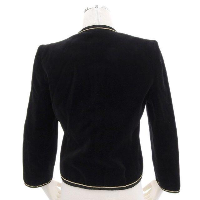 Christian Dior(クリスチャンディオール)のクリスチャン ディオール Dior ジャケット ベロア ブラック 黒 レディースのジャケット/アウター(ノーカラージャケット)の商品写真