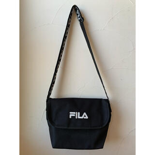 FILA - 【美品】FILA フィラ ショルダーバッグ ブラック 黒