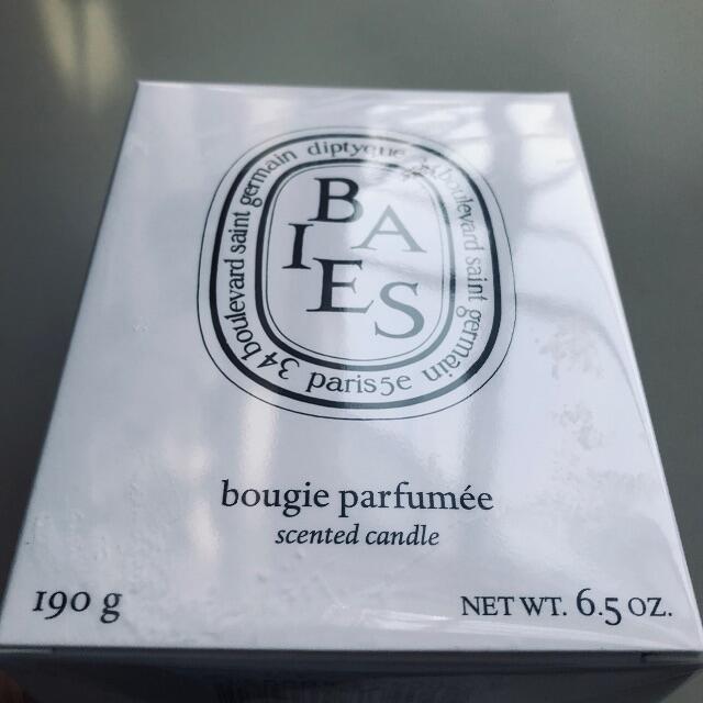 diptyque(ディプティック)のフィルム訳有/未開封【送込】Baies diptyque candle 190g コスメ/美容のリラクゼーション(キャンドル)の商品写真