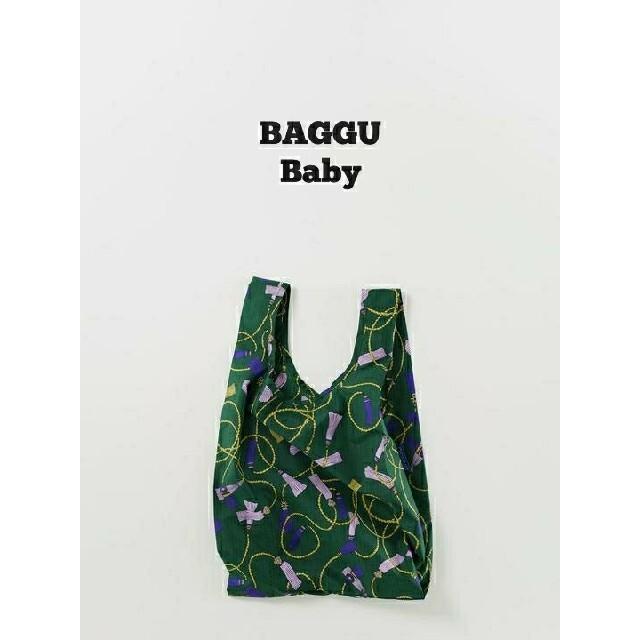 DEUXIEME CLASSE(ドゥーズィエムクラス)のレア BAGGU baguu エコバッグ ベビー グリーン タッセル 新品 レディースのバッグ(エコバッグ)の商品写真