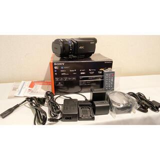 SONY - SONY 4Kビデオカメラ FDR-AX100 5700mAh互換バッテリー付き