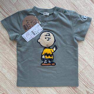 ピーナッツ(PEANUTS)の新品未使用タグ付き チャーリーブラウン Tシャツ  90 スヌーピー(Tシャツ/カットソー)