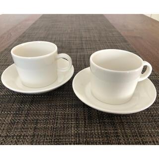 アラビア(ARABIA)のアラビア ティーマ カップアンドソーサー 白(グラス/カップ)