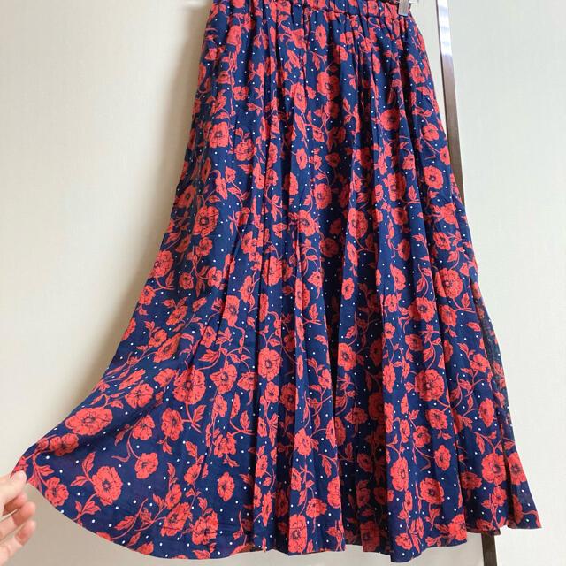 STUDIO CLIP(スタディオクリップ)のStudio CLIP スタディオクリップ フラワードットプリントスカート レディースのスカート(ロングスカート)の商品写真