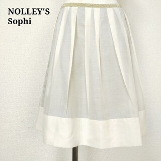 NOLLEY'S - ノリーズソフィ NOLLEY'S sophi フレアスカート ひざ丈 サイズM