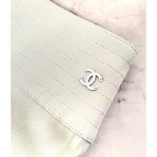 CHANEL - CHANEL ココマーク 裾フレアシルクタイトスカート