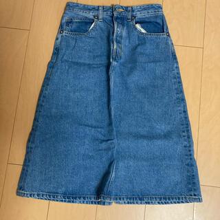 ロンハーマン(Ron Herman)のデニムスカート(ひざ丈スカート)