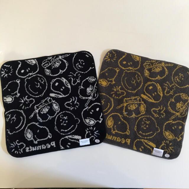 SNOOPY(スヌーピー)の新品*スヌーピー タオル ハンカチ 2枚セット レディースのファッション小物(ハンカチ)の商品写真