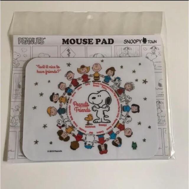 SNOOPY(スヌーピー)の新品*スヌーピー タウン オリジナル マウスパッド / フレンズ スマホ/家電/カメラのPC/タブレット(PC周辺機器)の商品写真