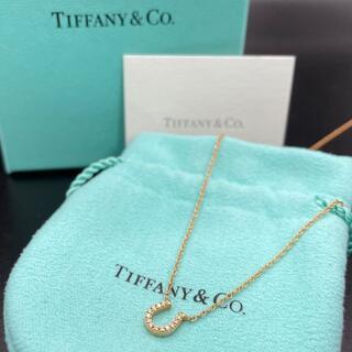 Tiffany & Co. - 希少 美品 ティファニー ゴールド ホースシュー ダイヤ ネックレス tt82
