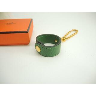 エルメス(Hermes)のエルメス バッグチャーム グローブホルダー 水色 ゴールド金具 未使用@ 12(キーホルダー)