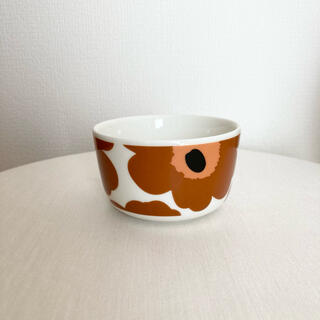 マリメッコ(marimekko)のマリメッコ ウニッコ ボウル ブラウン 茶(食器)