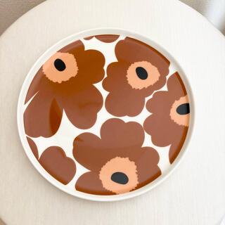 マリメッコ(marimekko)のマリメッコ ウニッコ プレート ブラウン 茶(食器)