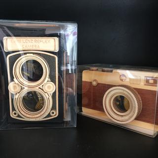 カルディ(KALDI)の新品 未開封 カルディ レフレックス 木製 カメラ セット (菓子/デザート)