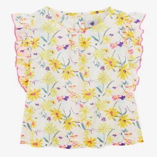 プチバトー(PETIT BATEAU)のSALE プチバトー ブラウス 4A お花柄(ブラウス)